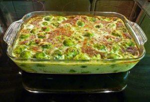 Brussel sprout casserole